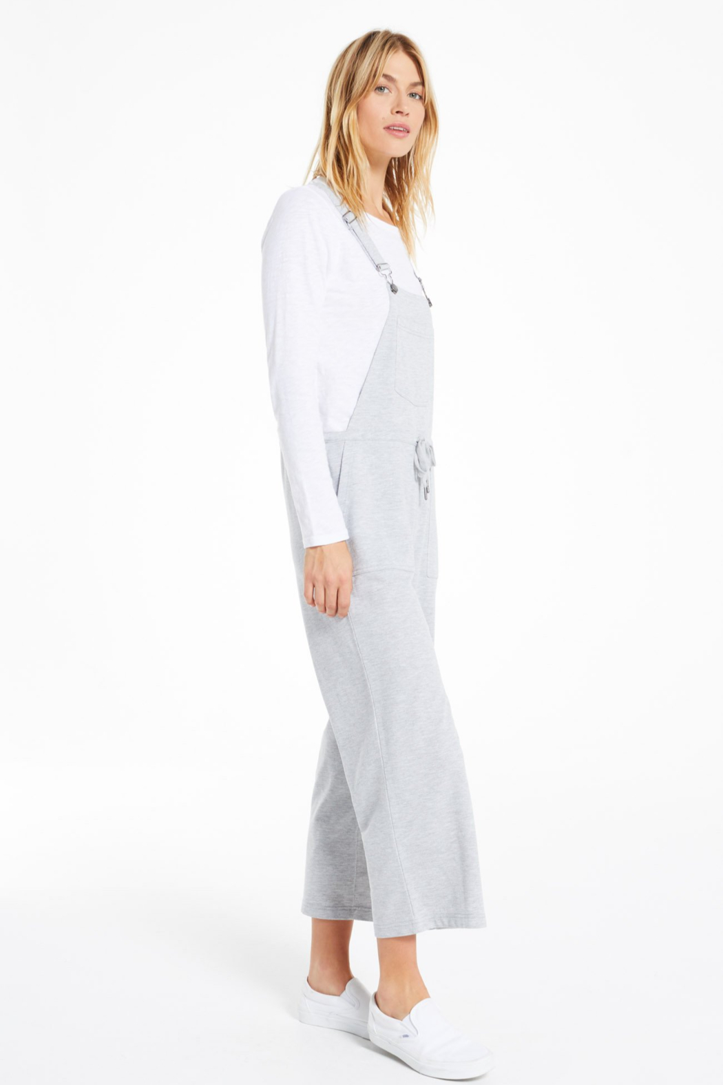 z supply Cinched Waist Overalls - Back Cropped Image