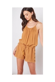 Mustard Seed Cinched Waist Romper - Product Mini Image