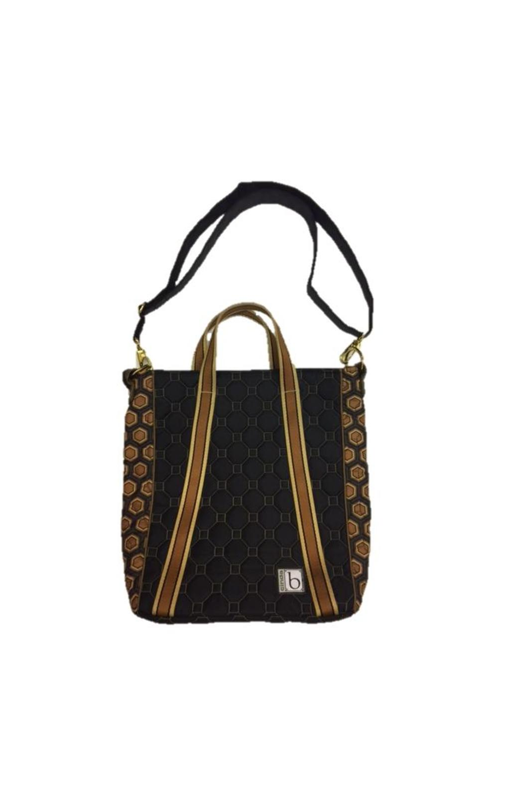 Cinda B Brown Vertical Tote - Front Cropped Image