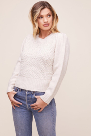 ASTR the Label Cindy Pearl Detailed Sweater - Product Mini Image