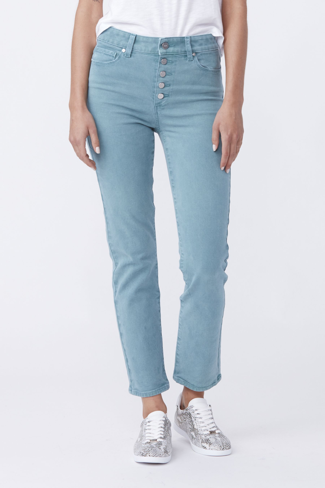 Paige Denim Cindy w/ Exposed Buttonfly - Main Image