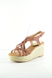 Qupid Cinnamon Espadrille Wedge - Front cropped