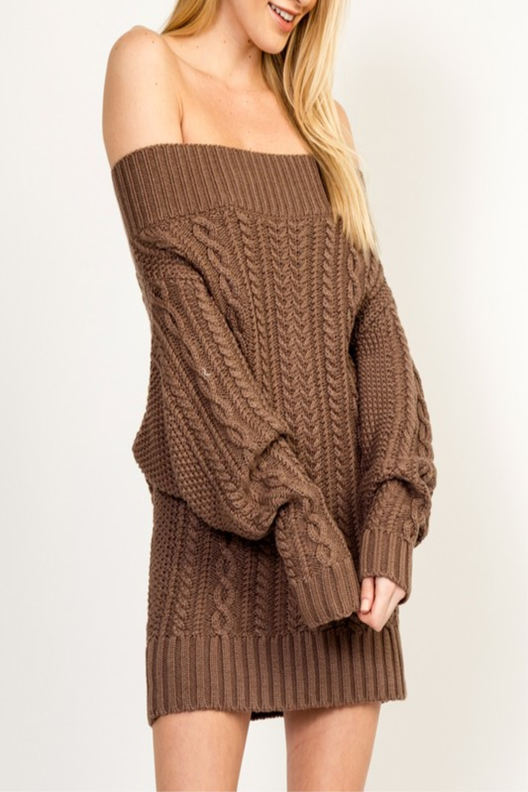 Olivaceous Cinnamon Sweater Dress - Front Cropped Image