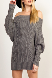 Olivaceous Cinnamon Sweater Dress - Front cropped