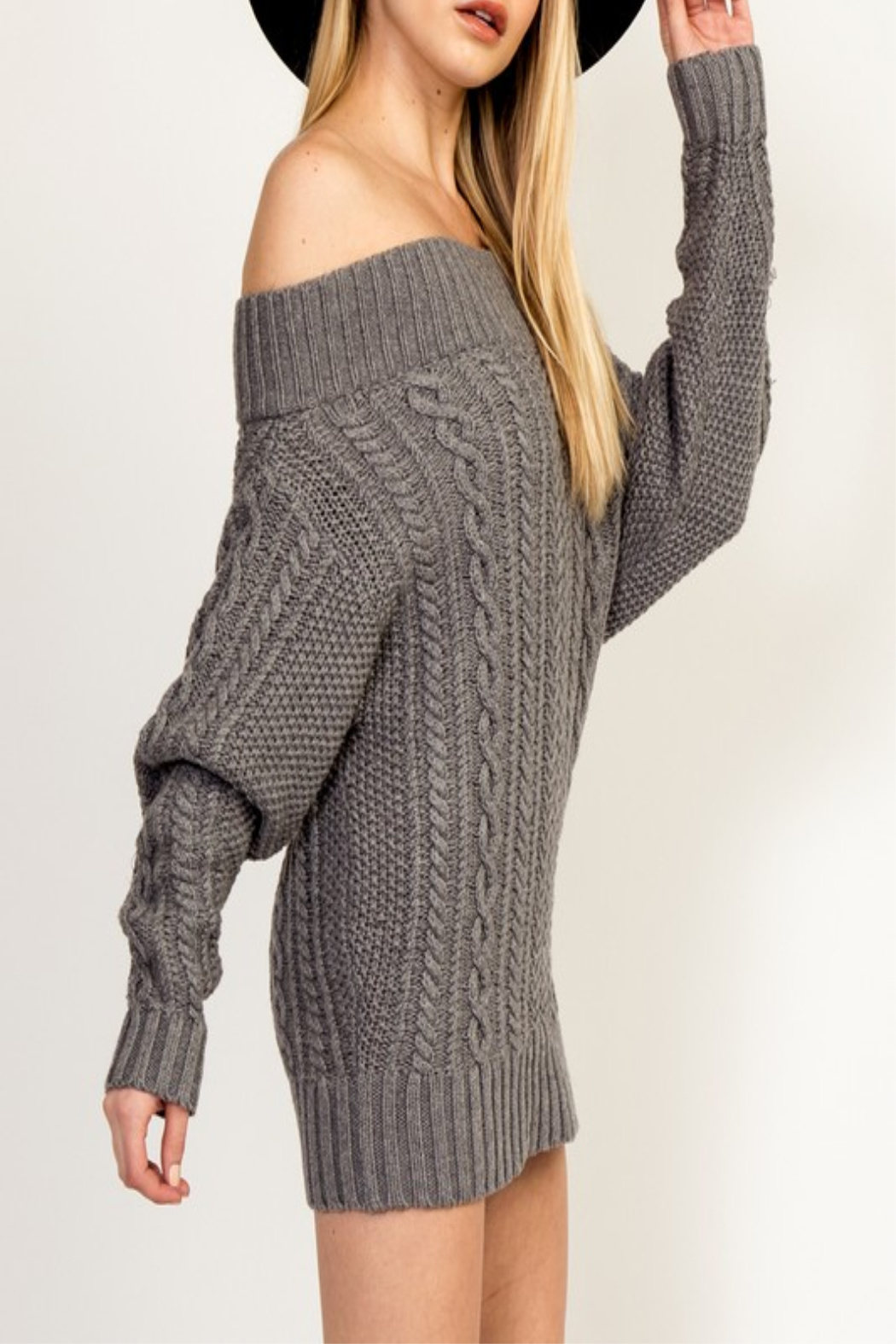 Olivaceous Cinnamon Sweater Dress - Front Full Image