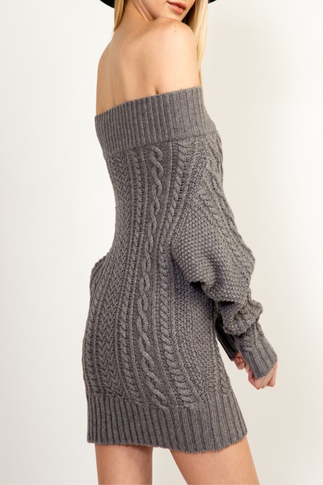 Olivaceous Cinnamon Sweater Dress - Side Cropped Image