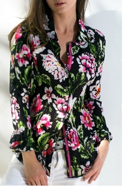 cino Black Floral Top - Front cropped