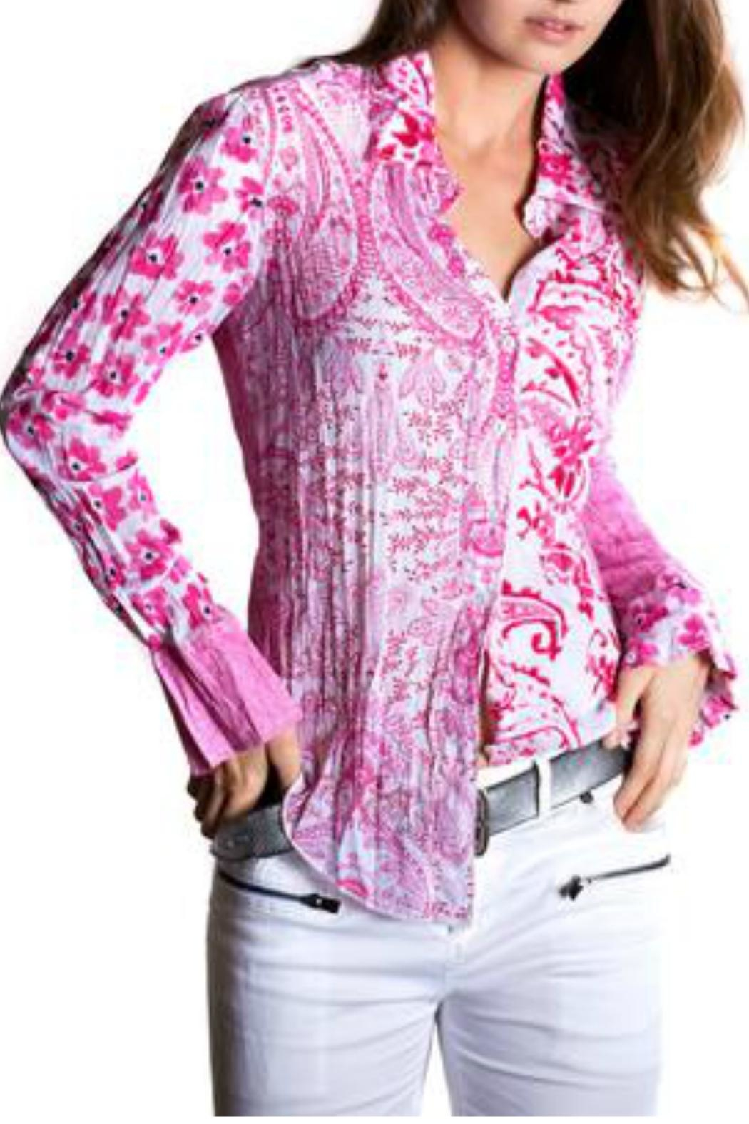 cino Pink Cotton Shirt - Front Cropped Image
