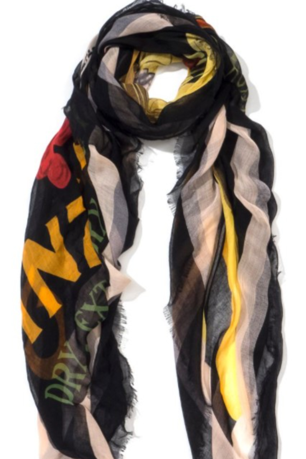 Blue Pacific Fashion Cinzano Art Scarf - Front Full Image