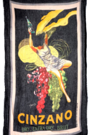 Blue Pacific Fashion Cinzano Art Scarf - Front cropped