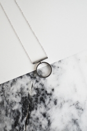 Sable + Company Circle Bar Necklace - Front cropped