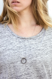 Sable + Company Circle Bar Necklace - Front full body