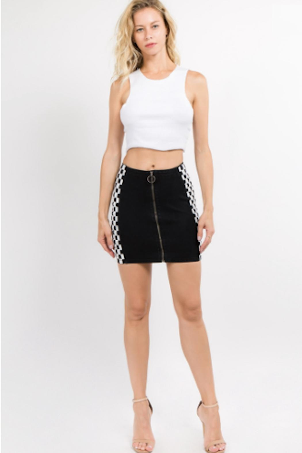 TIMELESS Circle Checker Skirt - Side Cropped Image