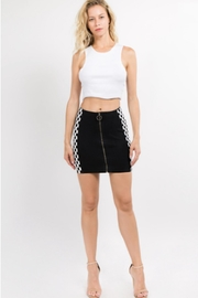 TIMELESS Circle Checker Skirt - Side cropped