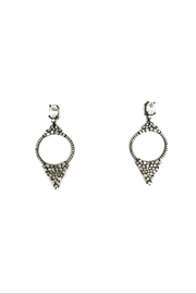 Lets Accessorize Circle Drop Hoops - Front cropped