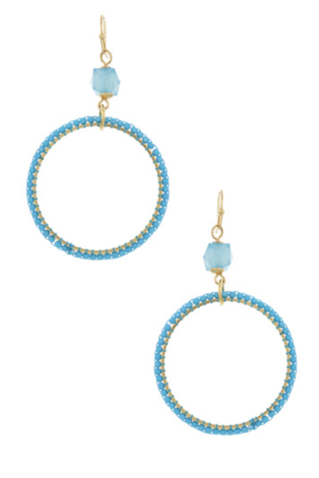 Bluebell Circle Hoop Earrings - Front Cropped Image