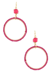 Bluebell Circle Hoop Earrings - Front cropped