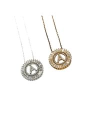 Lets Accessorize Circle Initial Necklace - Product Mini Image