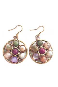 Anju Handcrafted Artisan Jewelry Circle Mixed Metal Earring - Alternate List Image