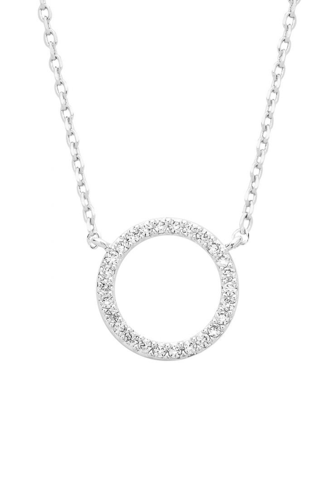 ESTELLA BARTLETT Circle Pave Necklace - Front Full Image