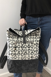 The Lovet Shop Circle Print Backpack - Front full body