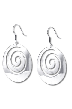 Shoptiques Product: Circle Swirl Earrings