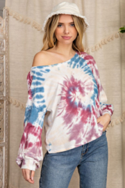 143 Story Circle Tie Dye Cropped Sweatshirt - Front cropped