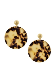 Wild Lilies Jewelry  Circle Tortoise Earrings - Product Mini Image