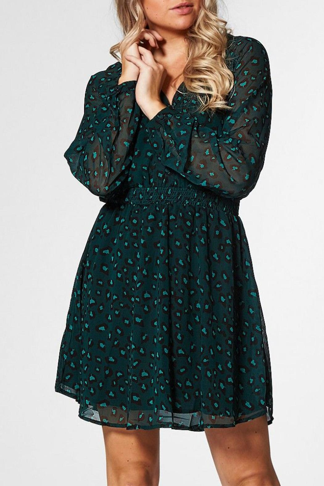 Circle Of Trust Kira Green Dress - Front Full Image