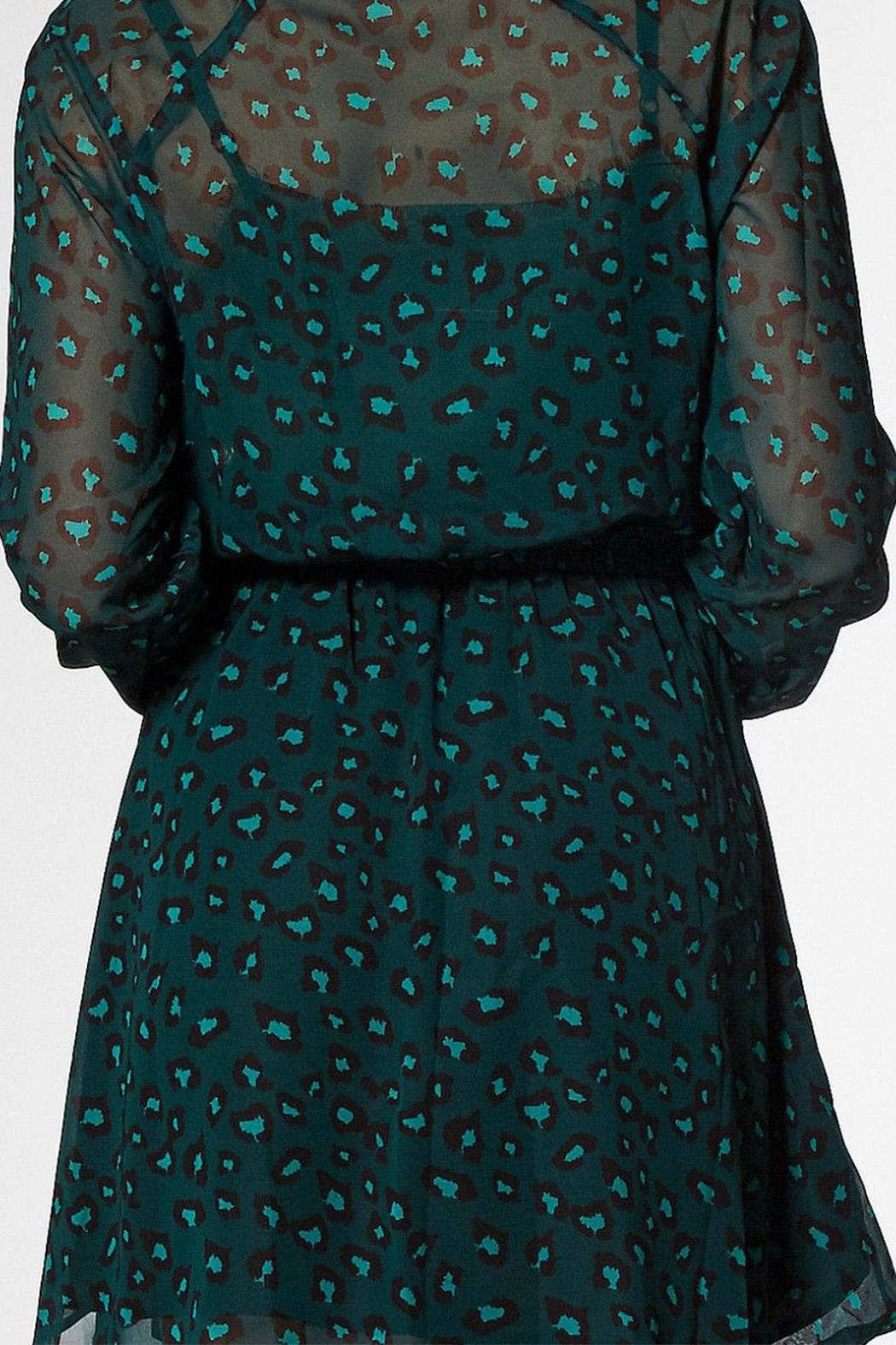 Circle Of Trust Kira Green Dress - Back Cropped Image