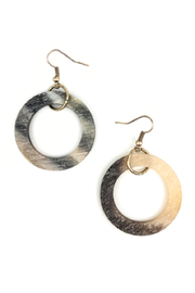 Anju Handcrafted Artisan Jewelry Circles and Brass Earrings - Product Mini Image