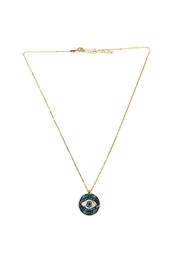 Lets Accessorize Circular Evil-Eye-Pendant Necklace - Product Mini Image
