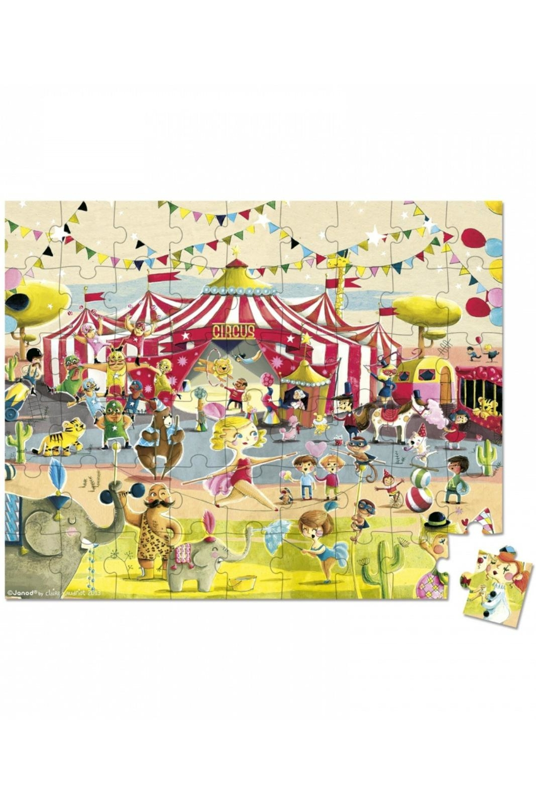 Janod Circus Puzzle - Front Full Image