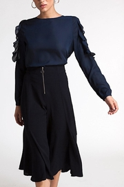 CISTAR Ruffle Lace Blouse - Front cropped