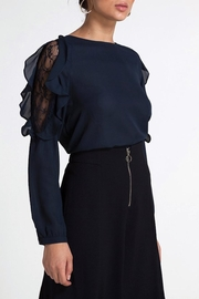 CISTAR Ruffle Lace Blouse - Side cropped