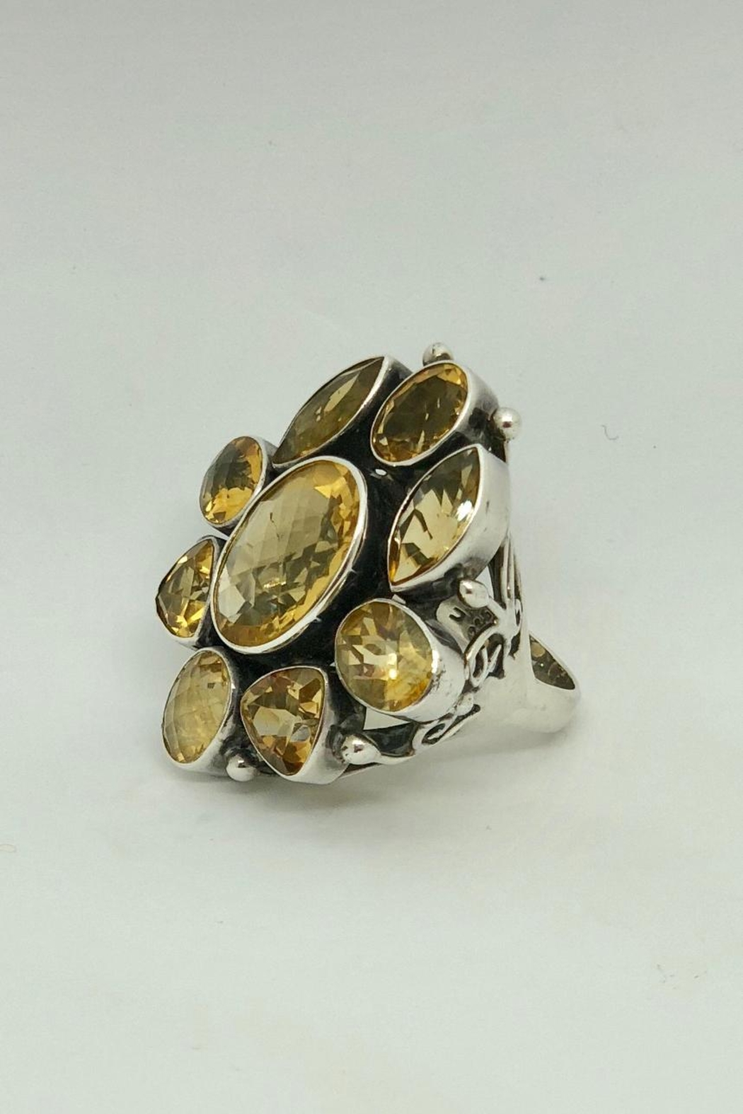Barry Brinker Fine Jewelry Citrine Cocktail Ring - Front Full Image