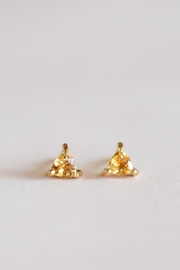 JaxKelly Citrine Mini Energy Gem Earrings - Product Mini Image