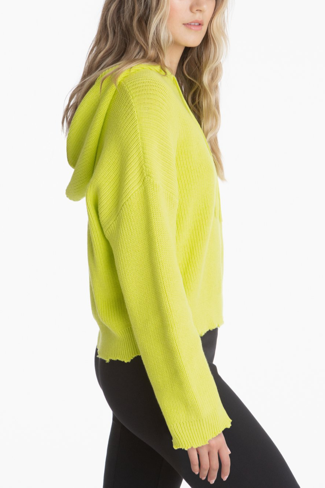 525 America Citron Drop Shoulder Shaker Hoodie - Front Full Image