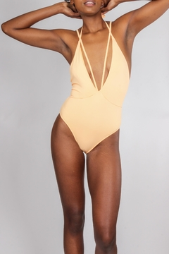 beach joy Citrus Strappy One-Piece - Product List Image