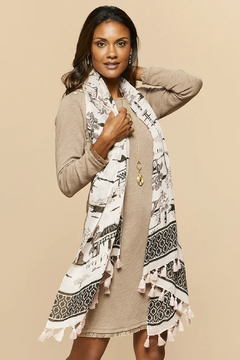 Spartina 449 City Market Toile Scarf - Product List Image