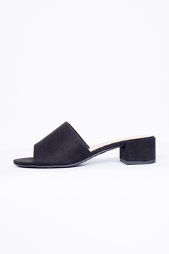 Shoptiques Product: Black Suede Mule Shoes