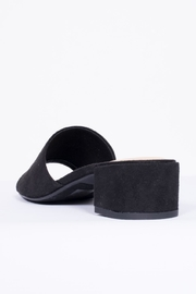 City Classified Black Suede Mule Shoes - Back cropped