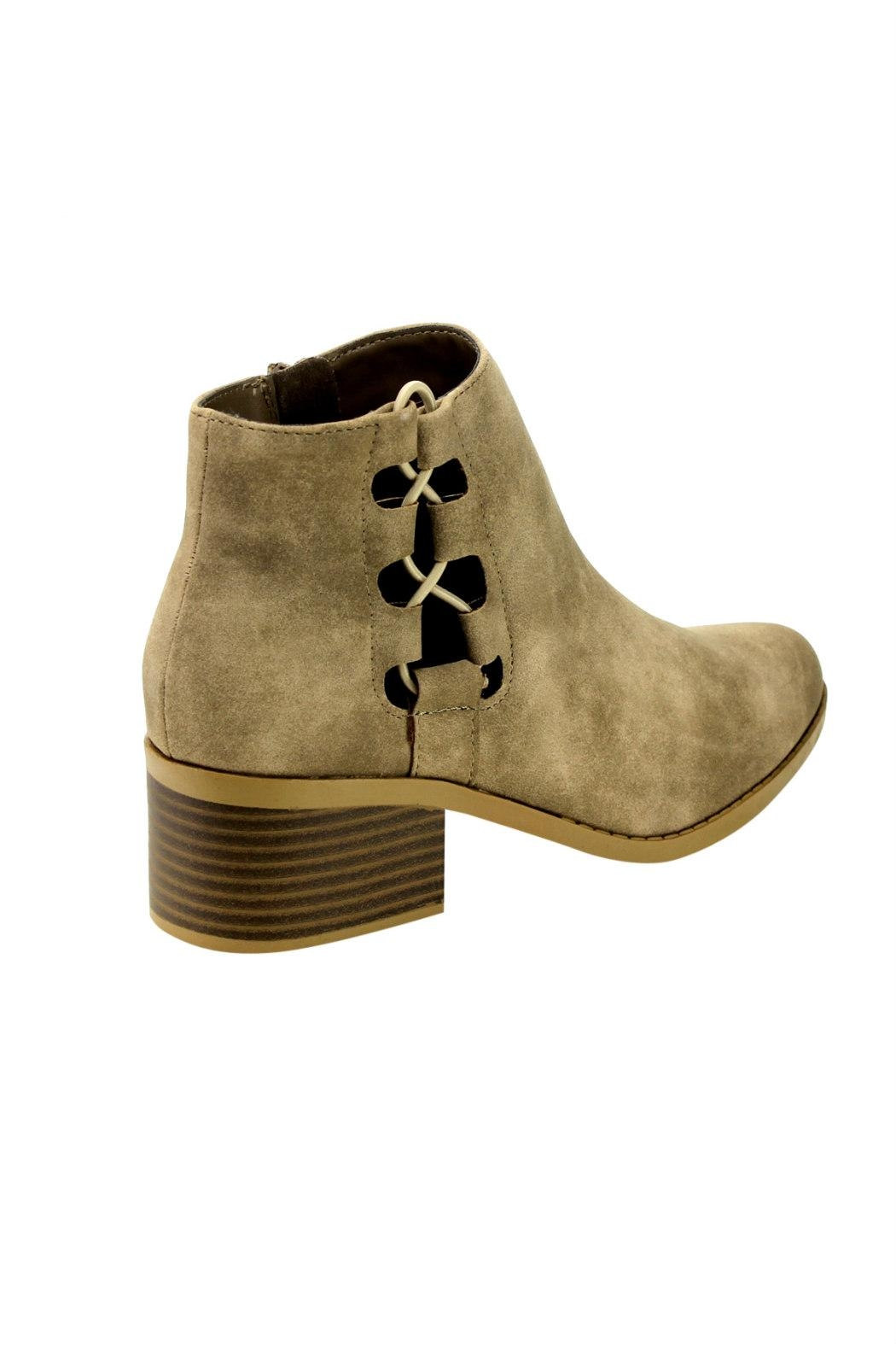 City Classified Derby Cut-Out Bootie - Back Cropped Image