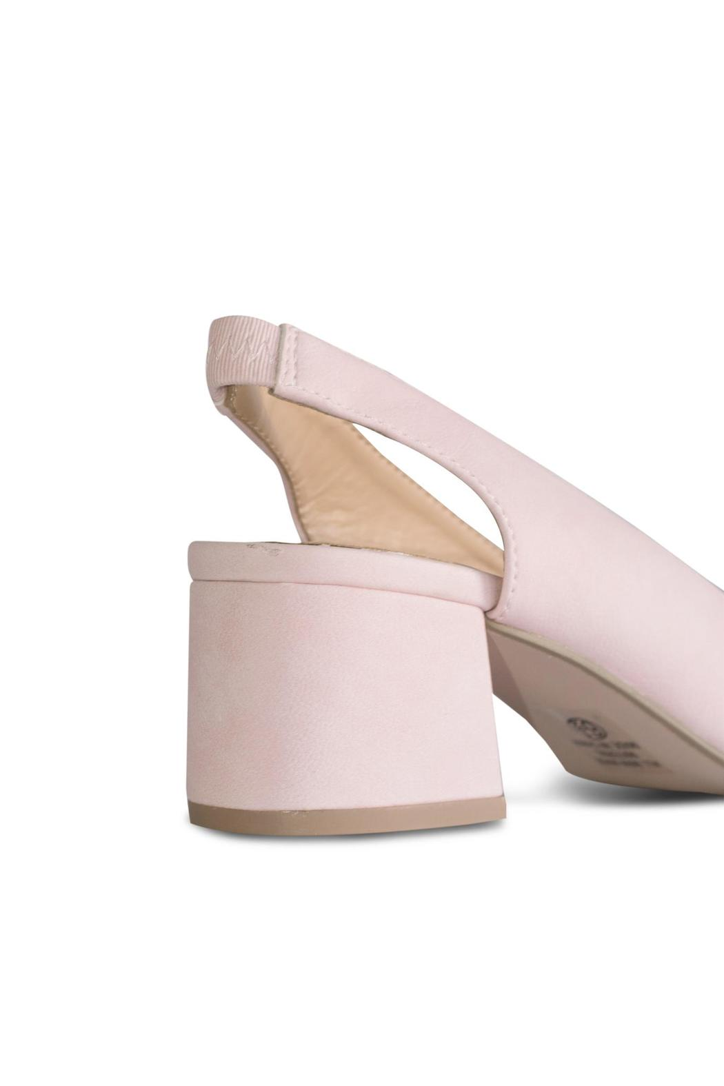 City Classified Pink Slingback Pump - Back Cropped Image