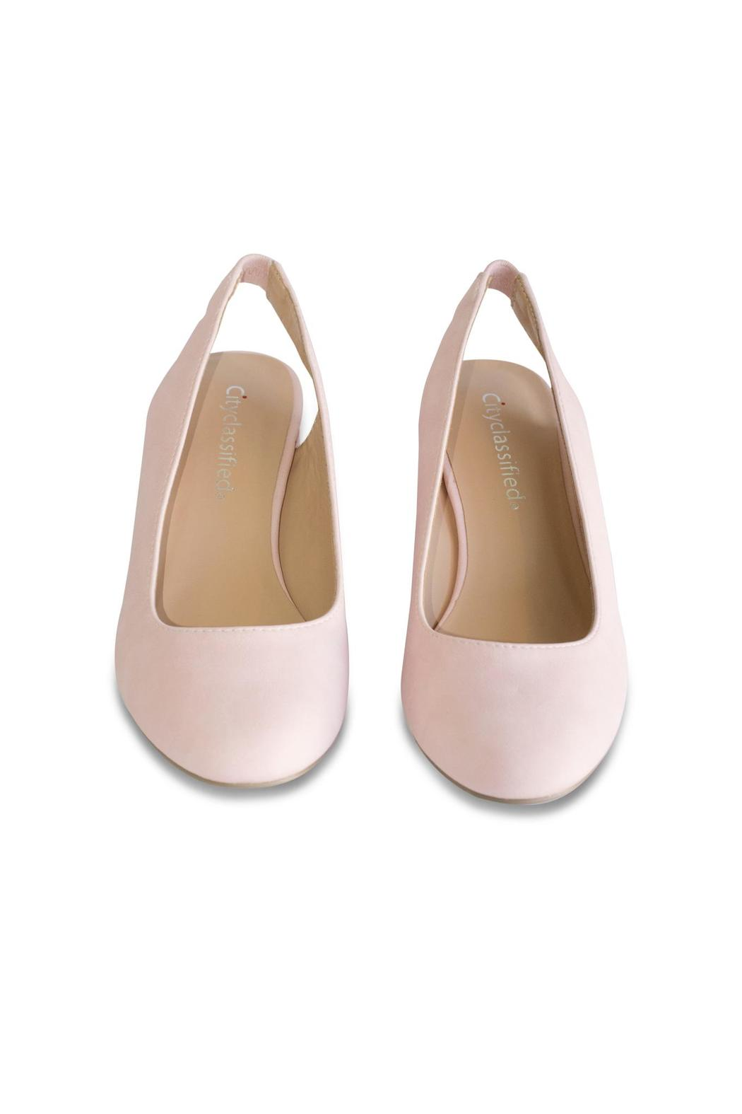City Classified Pink Slingback Pump - Side Cropped Image