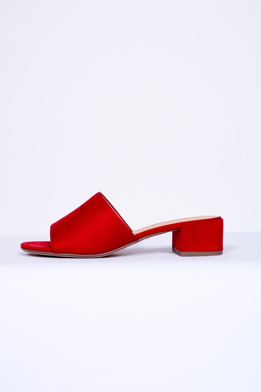 City Classified Red Slip-On Mules - Main Image
