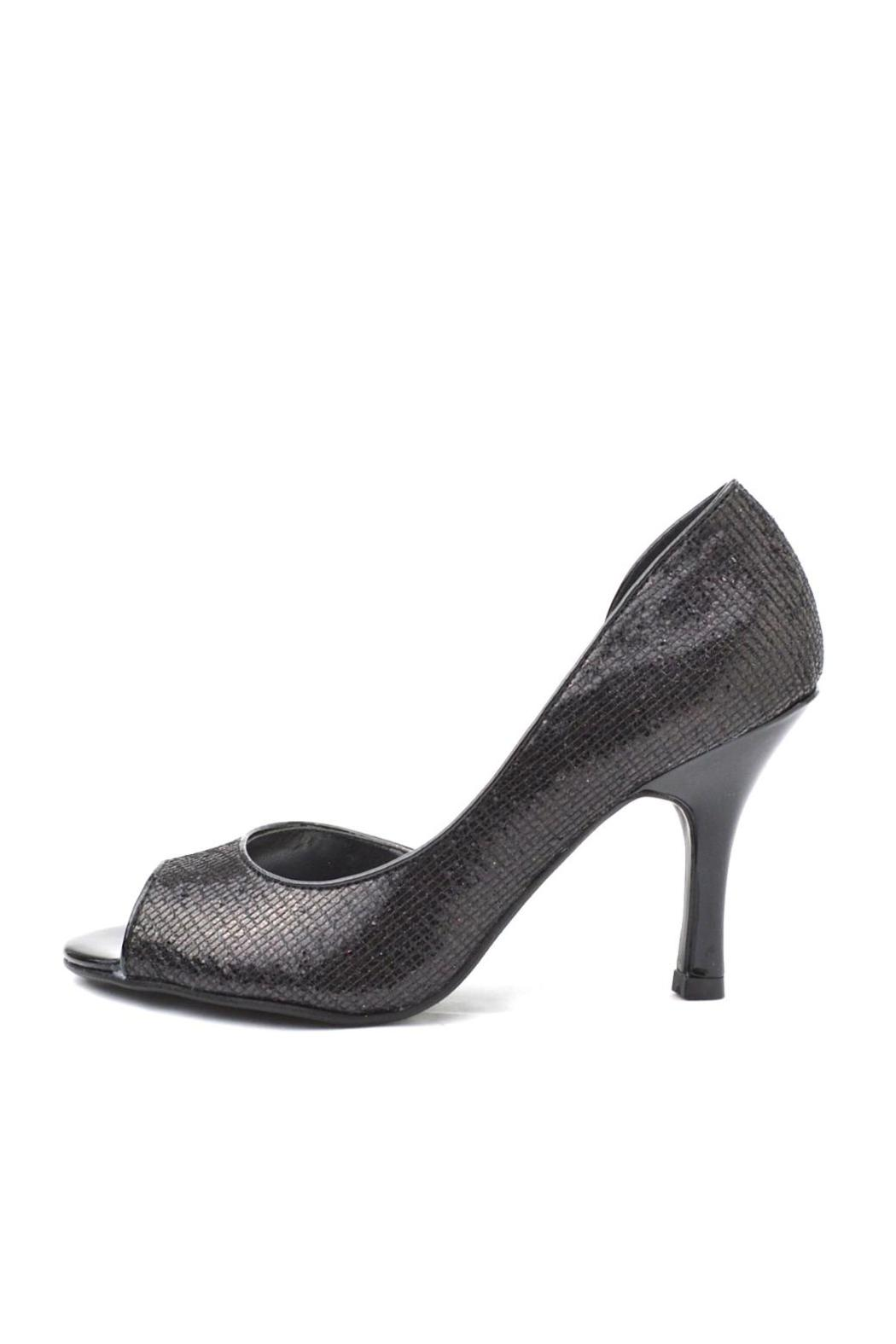 City Classified Sparkly Black Glitter Heel - Main Image