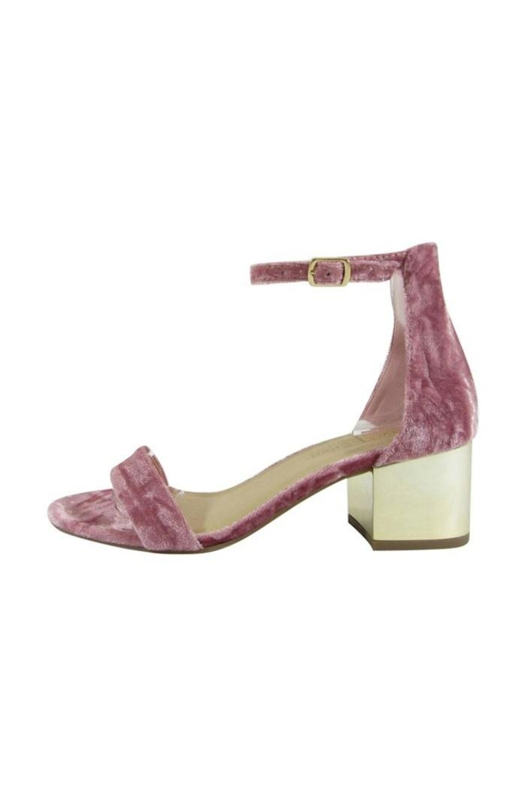 City Classified Velvet Sandal - Front Cropped Image