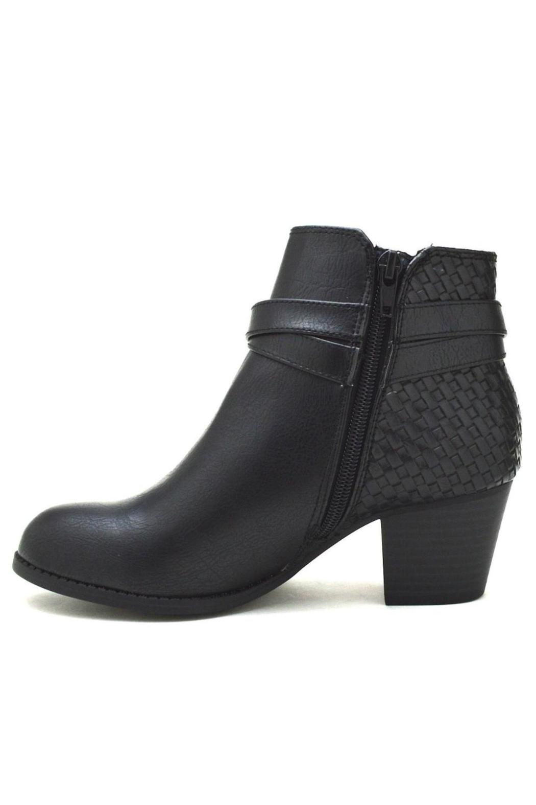 City Classified Woven Back-Belted Booties - Main Image