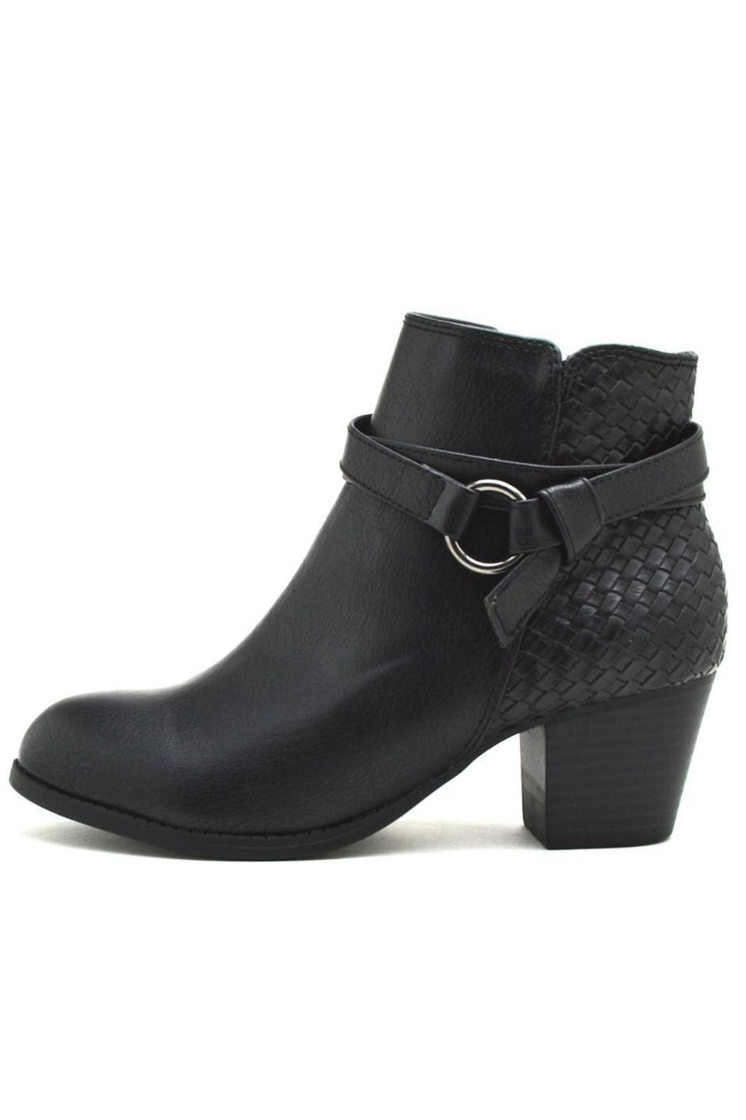 City Classified Woven Back-Belted Booties - Front Cropped Image